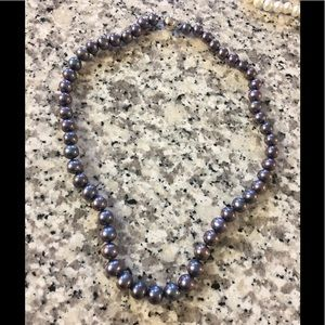 Jewelry - Beautiful Freshwater Pearl Necklace/ Purple